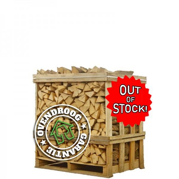 Brandhout beuk droog halve pallet