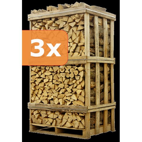SUMMERSALE   3 paletten ovengedroogd berkenhout