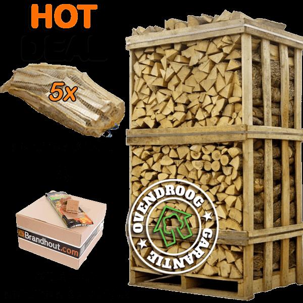 Brandhout haagbeuk | hot deal (ca.120x80x210cm) | aanmaakhout | aanmaakblokjes