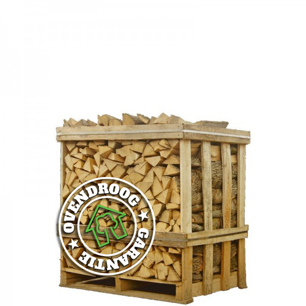 Brandhout eik droog halve pallet